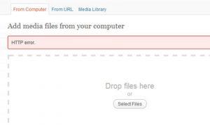 WordPress Troubleshooting: HTTP Error When Uploading Images