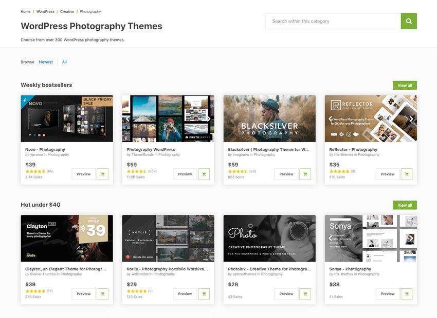 20+ Creative WordPress Photo Gallery Themes for Simple Portfolio Sites 2020
