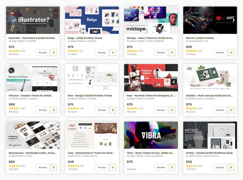 18+ Creative WordPress Themes for Artists (Free & Premium)